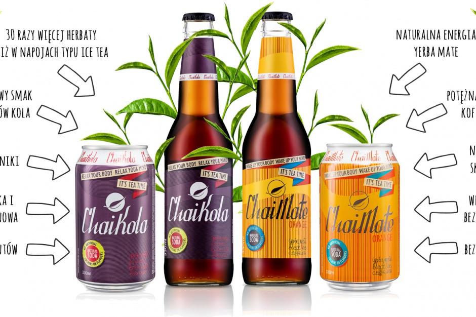 Napoje ChaiKola i ChaiMate w szklanych butelkach