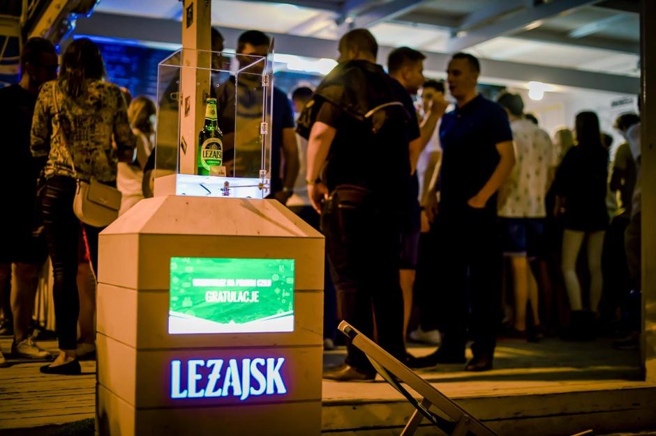 Marka Leżajsk promuje się wśród mieszkańców Warszawy