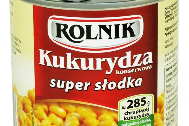 Kukurydza w puszkach od marki Rolnik