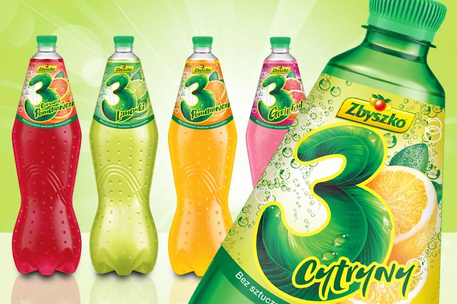 Nowe etykiety napojów firmy Zbyszko