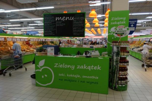 Hipermarket E.Leclerc w Kielcach zainwestował w wyspę z koktajlami