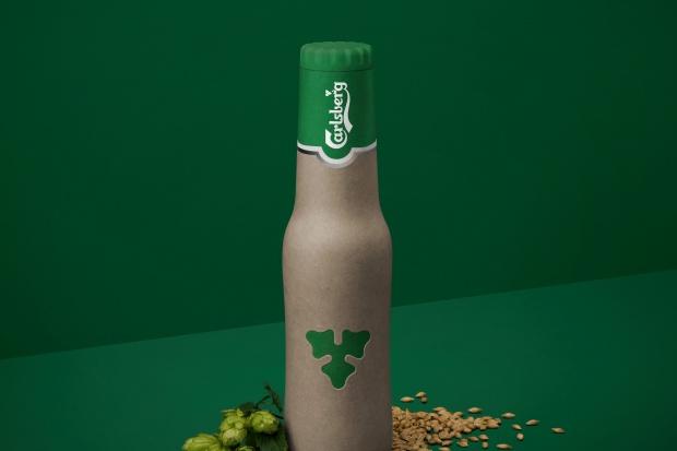Ekologiczna butelka z włókna drzewnego dla piwa Carlsberg