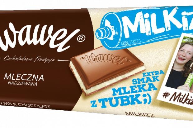 Wawel promuje czekoladę o smaku mleka z tubki Milkizz