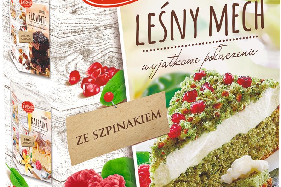 Szpinakowe ciasto Leśny Mech od marki Delecta