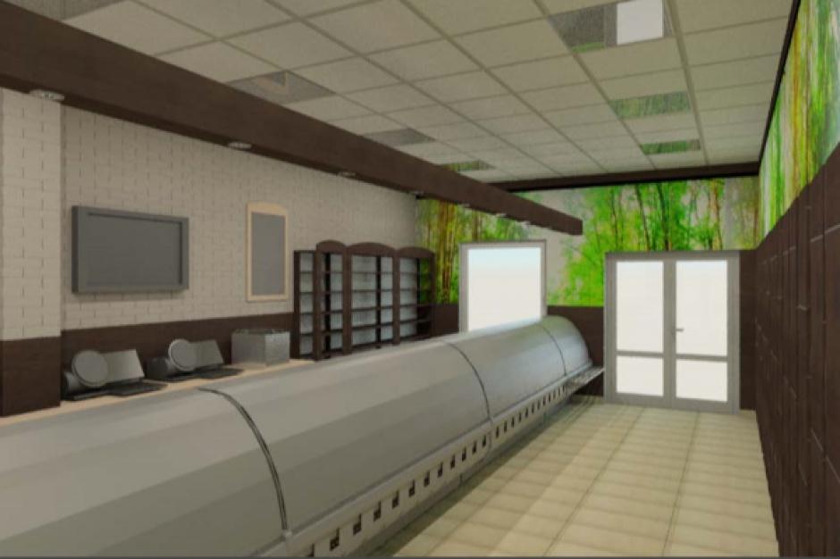 Remodeling delikatesów Gzella. W środku piec konwekcyjny i lada grzewcza (wizualizacje)