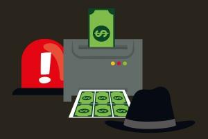 Rezolutny nastolatek wydrukował sobie banknoty i płacił nimi w sklepach