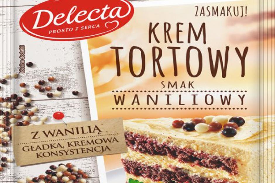 Krem tortowy z dodatkiem naturalnej wanilii - nowość od marki Delecta