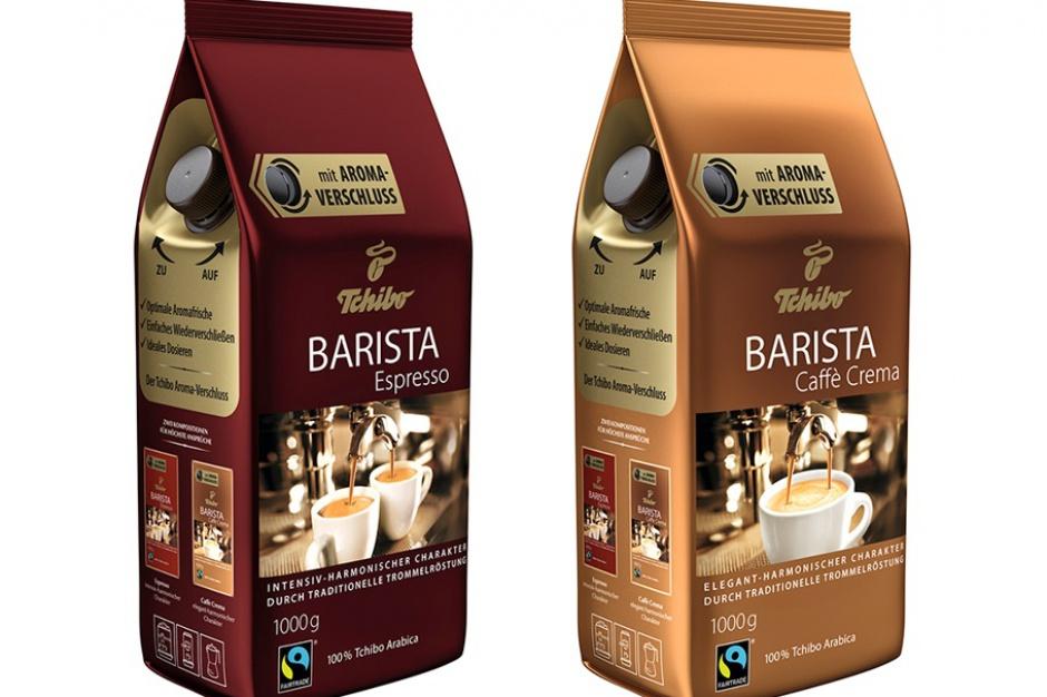 Barista Espresso i Barista Caffe Crema od Tchibow innowacyjnym opakowaniu