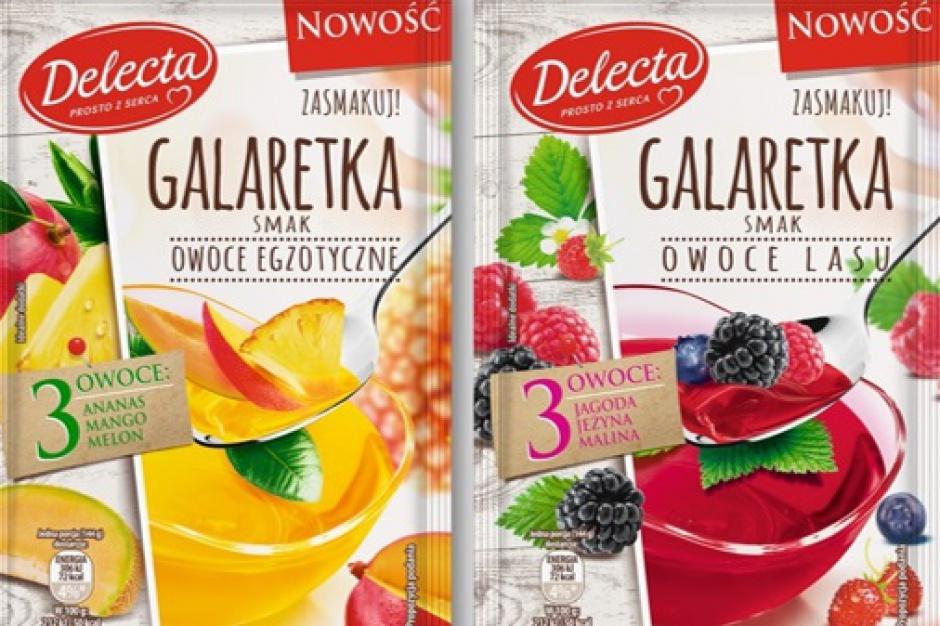 Leśne i egzotyczne owoce w nowych Galaretkach Delecta