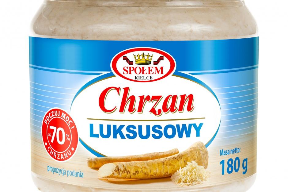 Chrzan Luksusowy WSP Społem z nową etykietą