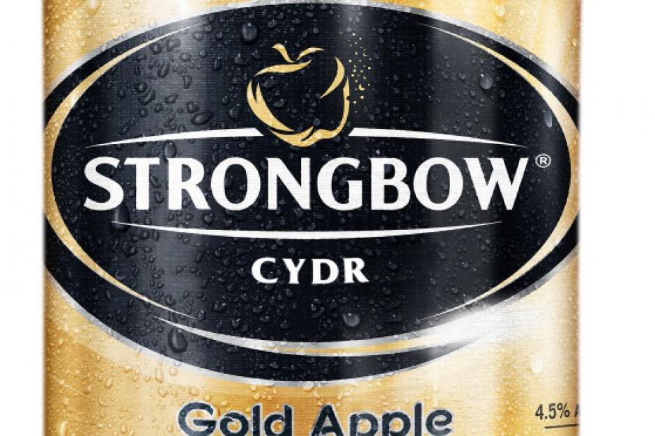 Cydr Strongbow w większej butelce