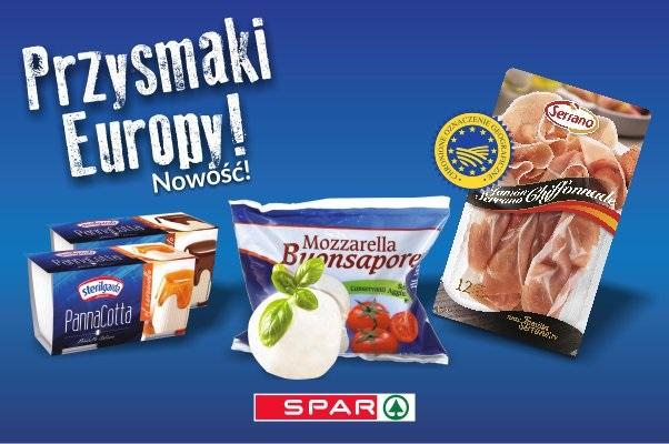 Przysmaki Europy nową marką własną w sklepach Spar