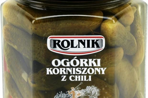 Ogórki korniszony z chili od firmy Rolnik