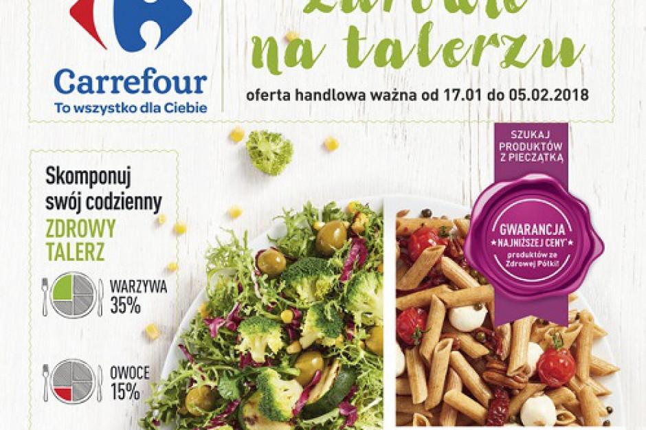 """Carrefour promuje ofertę ze ,,Zdrowej półki"""""""