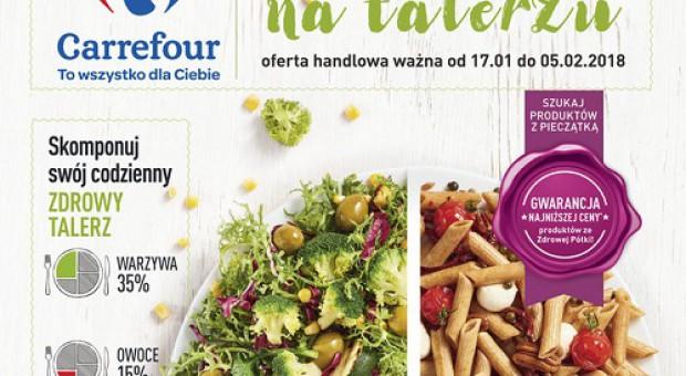 Carrefour promuje ofertę ze ,,Zdrowej półki