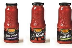 Sosy pomidorowe Winiary w butelkach w trzech odsłonach