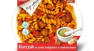 Nowość Profi - Kurczak w sosie indyjskim z makaronem