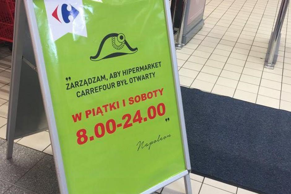 Hipermarkety Carrefour czynne do północy w piątki i soboty