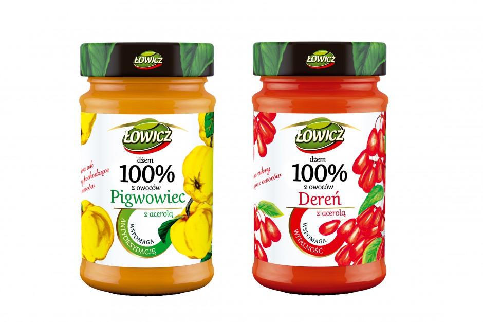 Dwa nowe smaki dżemów prozdrowotnych od Łowicza