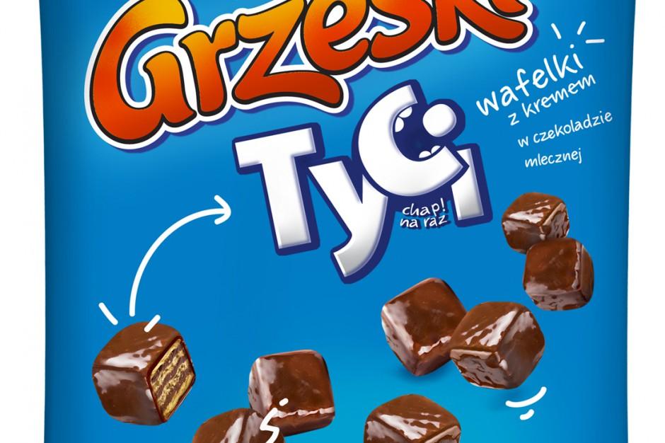 Nowe mini wafelki Grześki Tyci w czekoladzie mlecznej