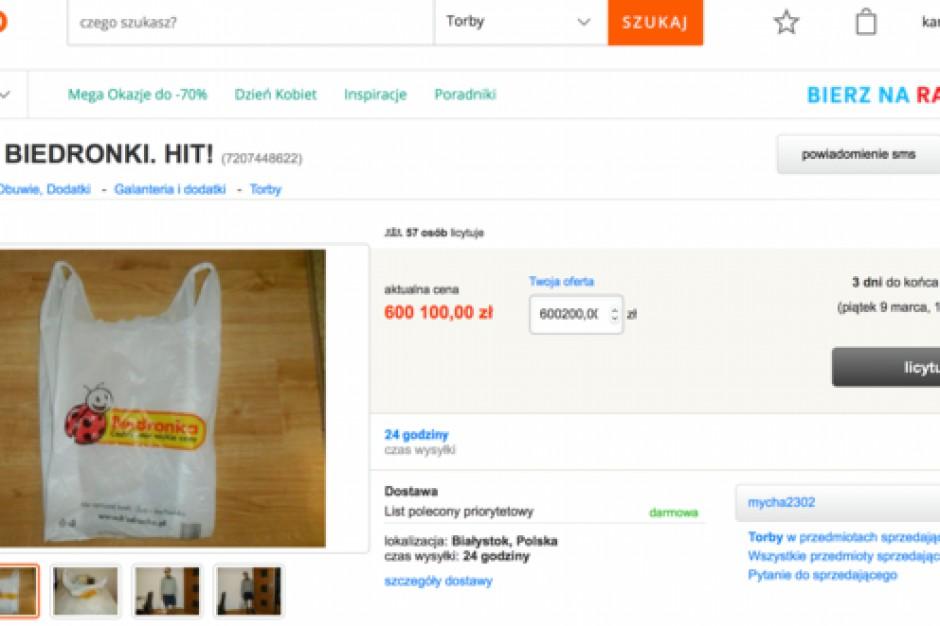 600 tys. zł za reklamówkę z Biedronki