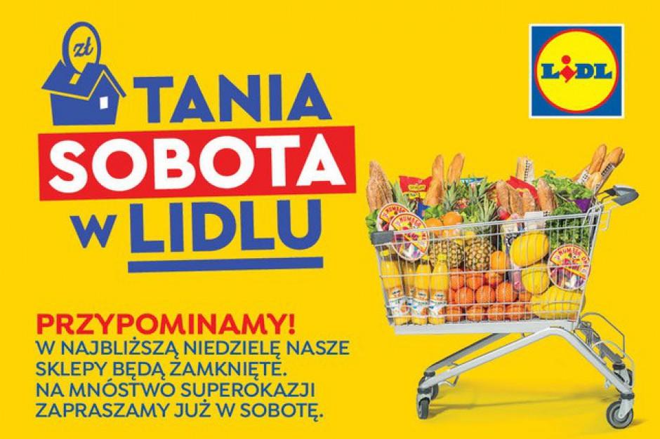 """Lidl odpowiada na zakaz handlu w niedziele akcją """"Tania sobota"""""""