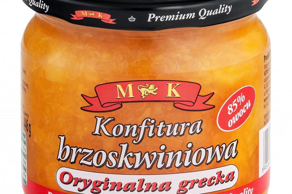 Konfitura brzoskwiniowa marki MK