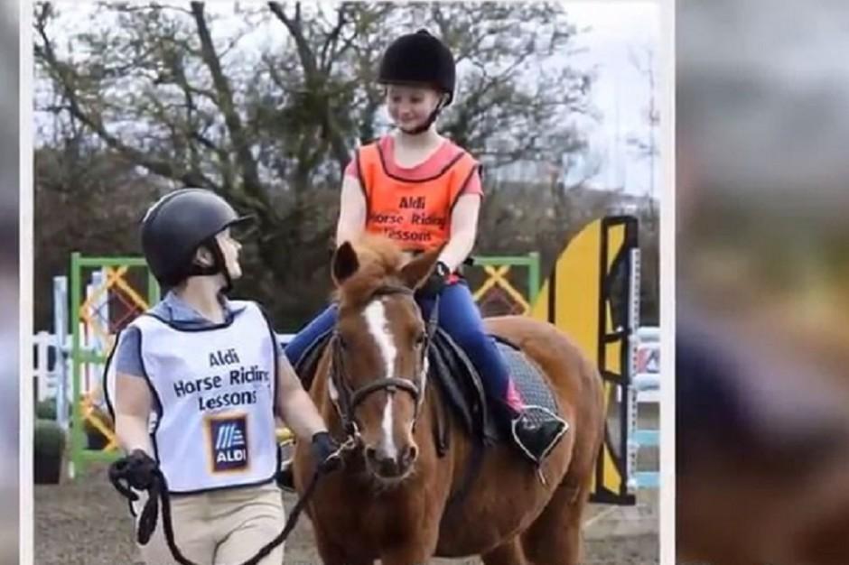 Aldi oferuje zniżki na lekcje jazdy konnej, aby zachęcić do uprawiania sportu