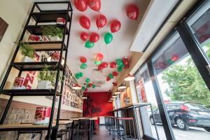 Pizzeria sieci Papa John's na warszawskiej Ochocie