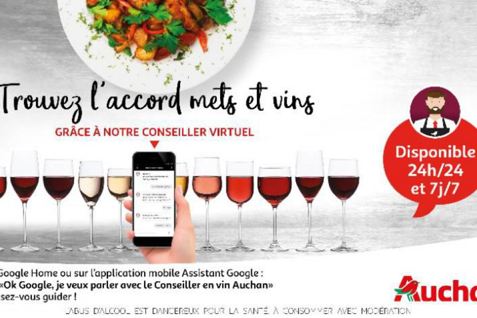Chatbot głosowy będzie doradzał klientom Auchan w wyborze wina