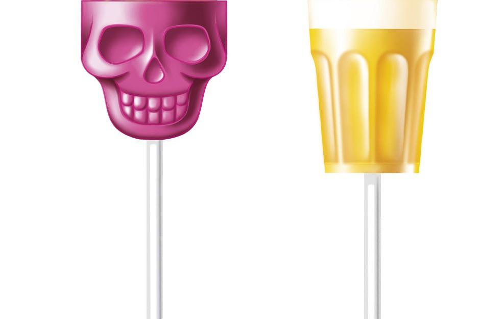 Chupa Chups wprowadza lizaki w kształcie czaszki oraz szklanki z napojem