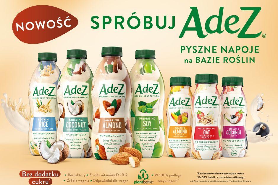 Coca-Cola wprowadza do Polski markę napojów roślinnych AdeZ