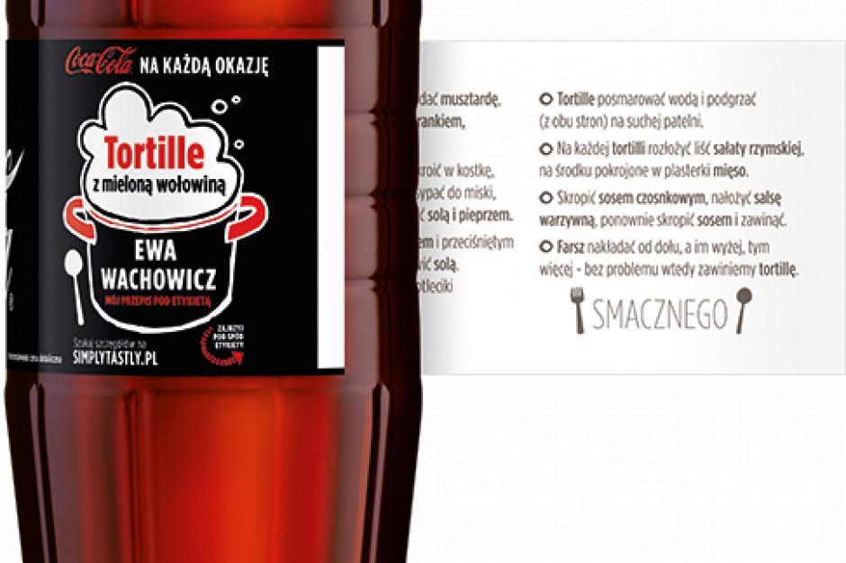 Przepisy Ewy Wachowicz na etykietach Coca Coli