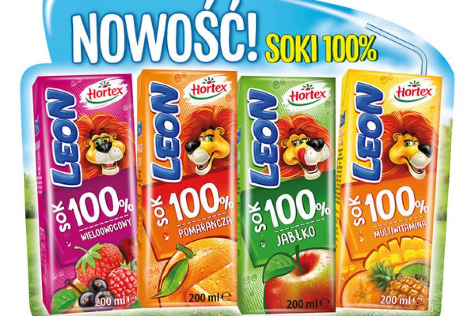 Nowa linia soków 100% Hortex Leon