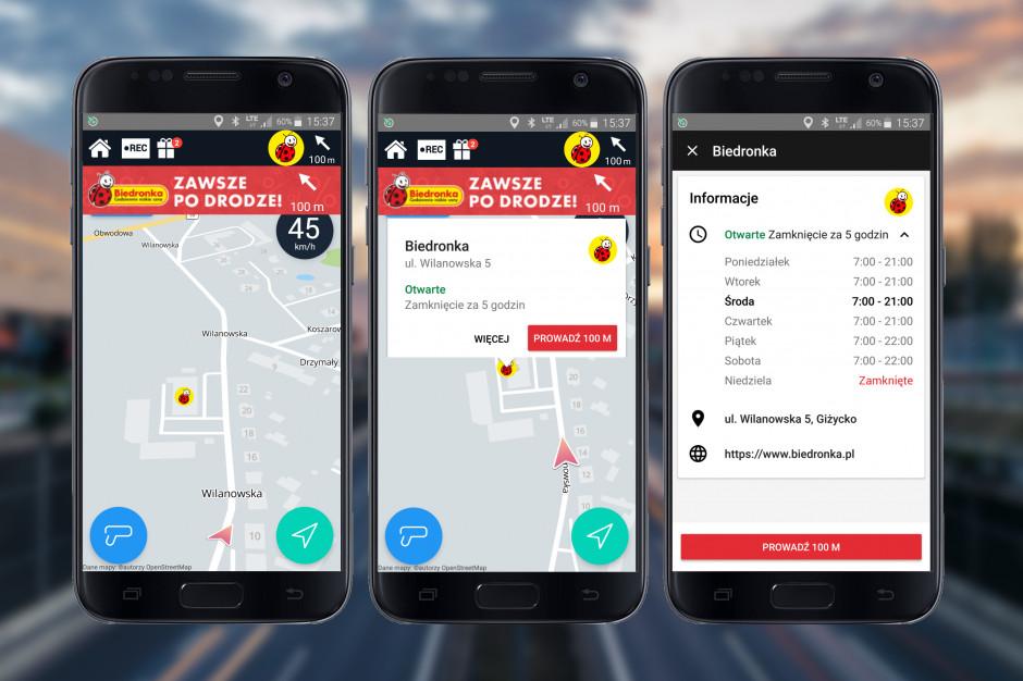 Aplikacja Yanosik poinformuje o godzinach otwarcia sklepów Biedronka