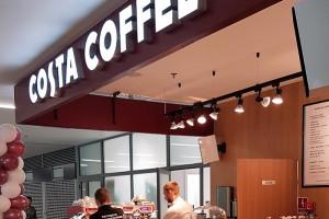 Costa Coffee z lokalem na lotnisku Balice
