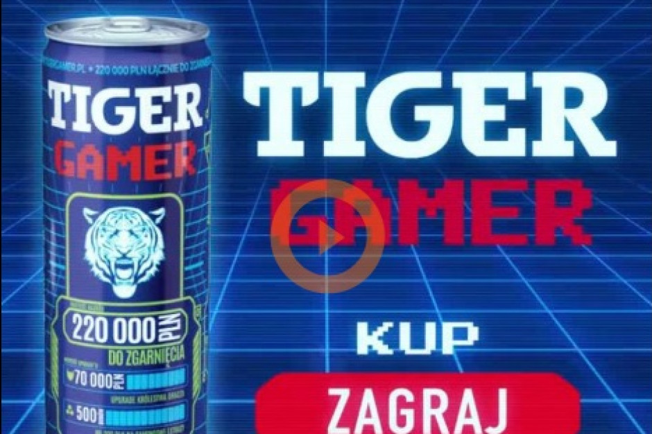 Gamerzy promują loterię Tiger Energy Drink