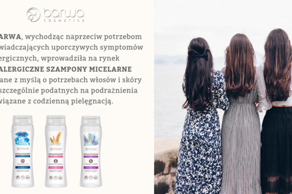 Hipoalergiczne szampony micelarne marki Barwa