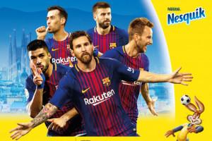 Nesquik współpracuje z FC Barcelona w kampanii promocyjnej