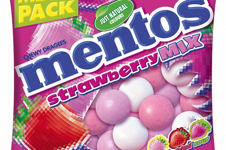 Cukierki Mentos o smaku truskawkowym