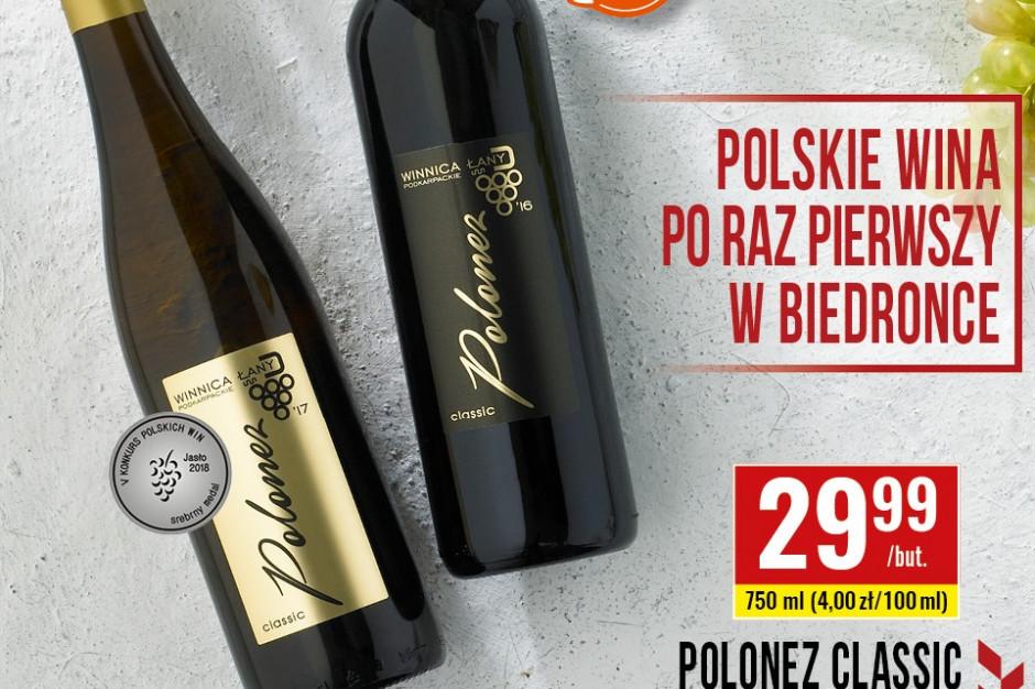 Biedronka, wzorem Lidla, wprowadza do oferty polskie wina