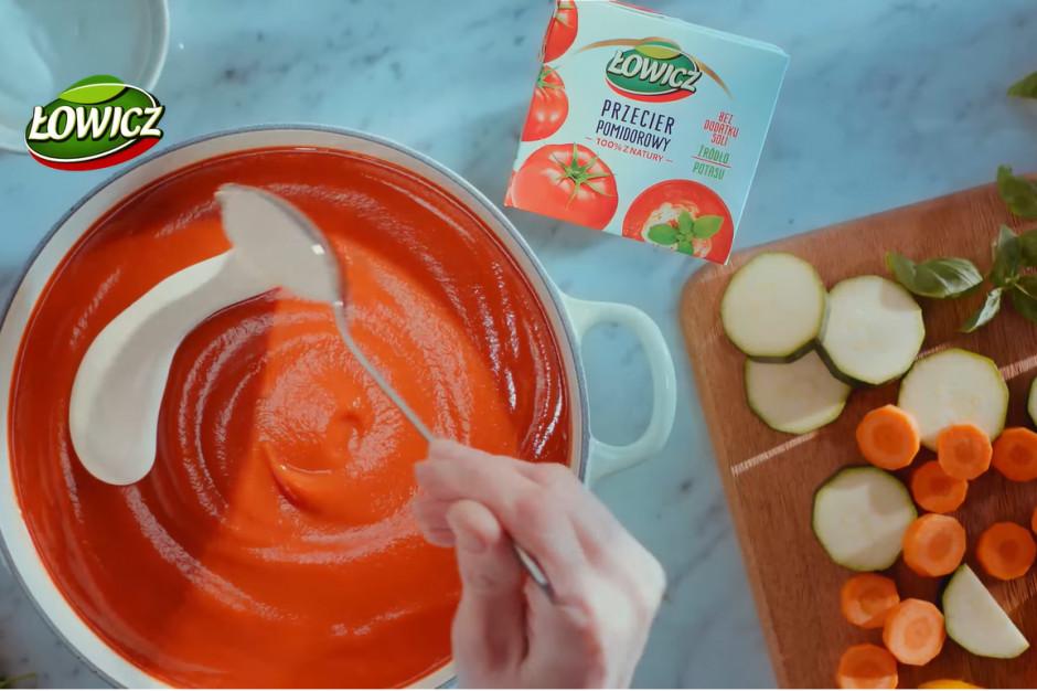 Przecier pomidorowy Łowicz z reklamowym wsparciem