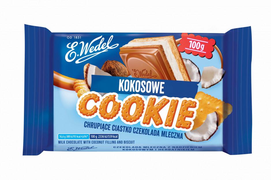 Czekolada Cookie od E.Wedla w nowych smakach i mniejszej gramaturze