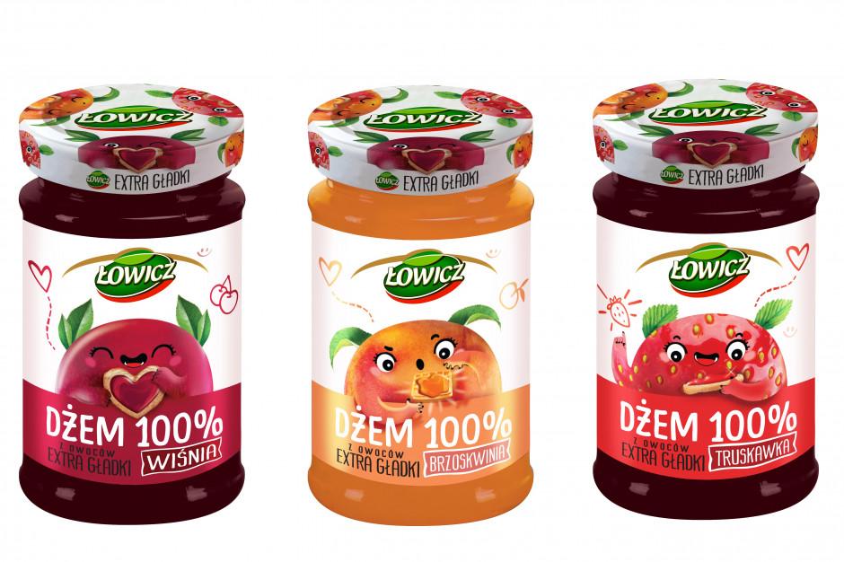 Dżemy Łowicz 100% z owoców Extra Gładkie w nowej odsłonie