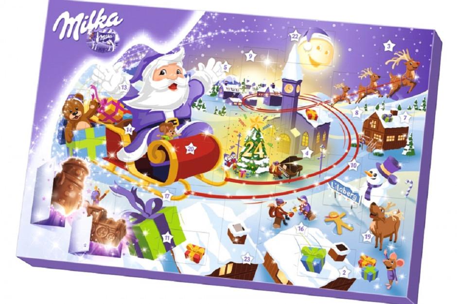 Kalendarz adwentowy i maskotyki ze słodyczami od Milki
