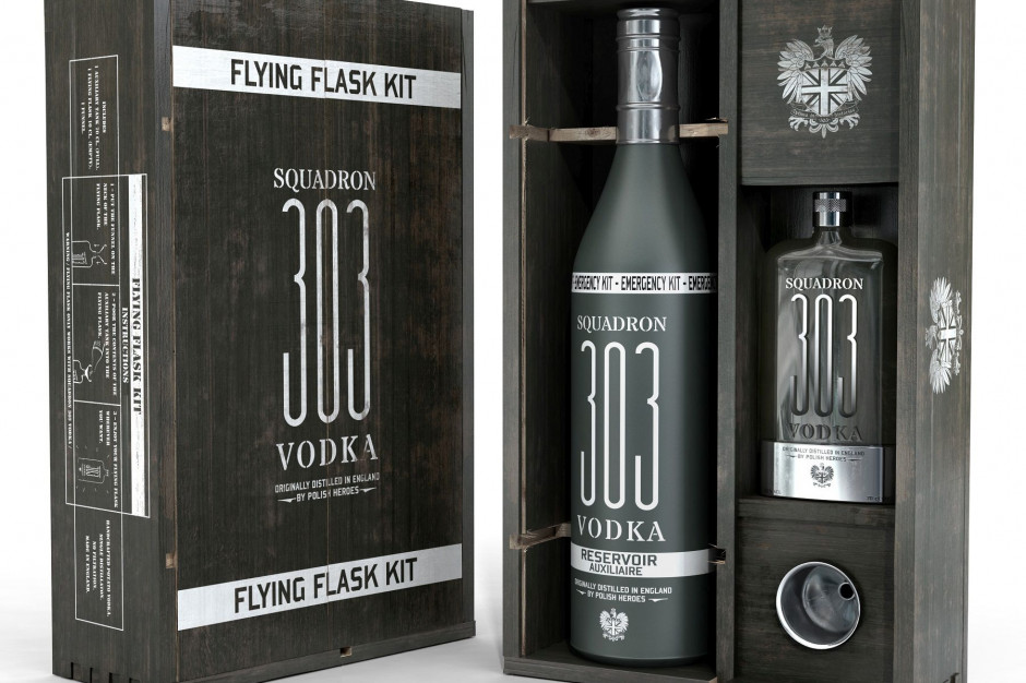 Nowa butelka wódki Squadron 303