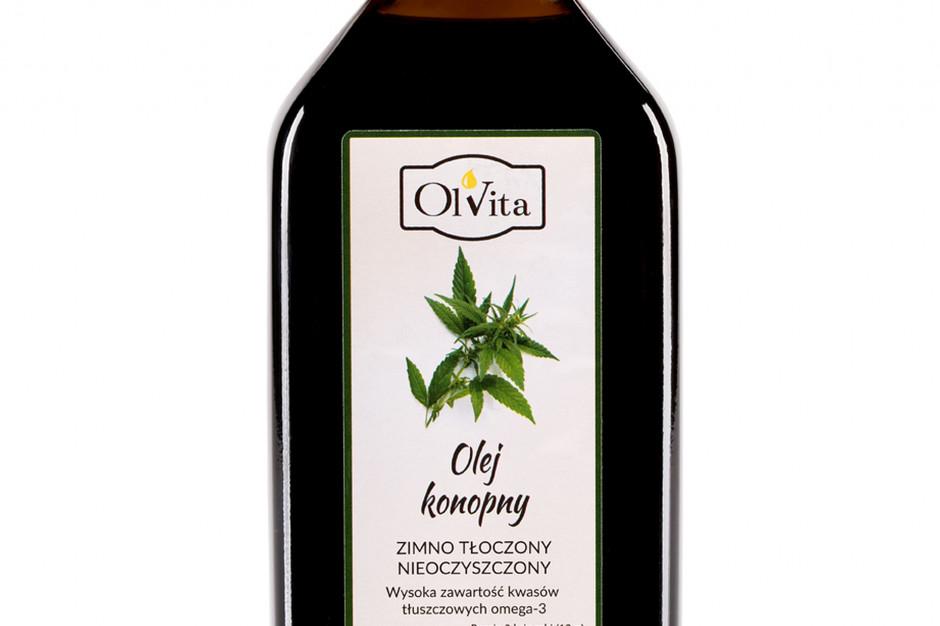 Olej konopny zimno tłoczony marki Ol'Vita