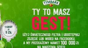 Marka Tymbark zachęca do akcji charytatywnej, wpłaci 100 tys. zł dla fundacji