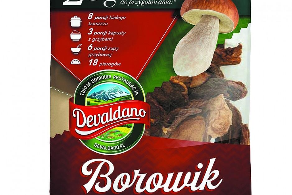 Borowik suszony w plastrach od marki Devaldano