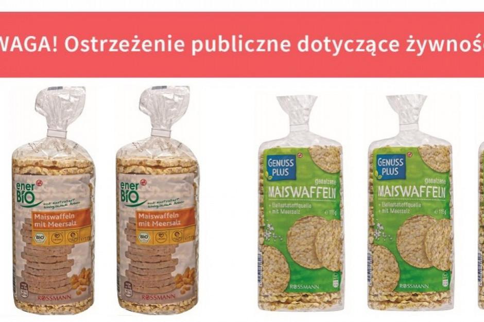 Wycofano wafle kukurydziane dostępne w sieci drogerii Rossmann